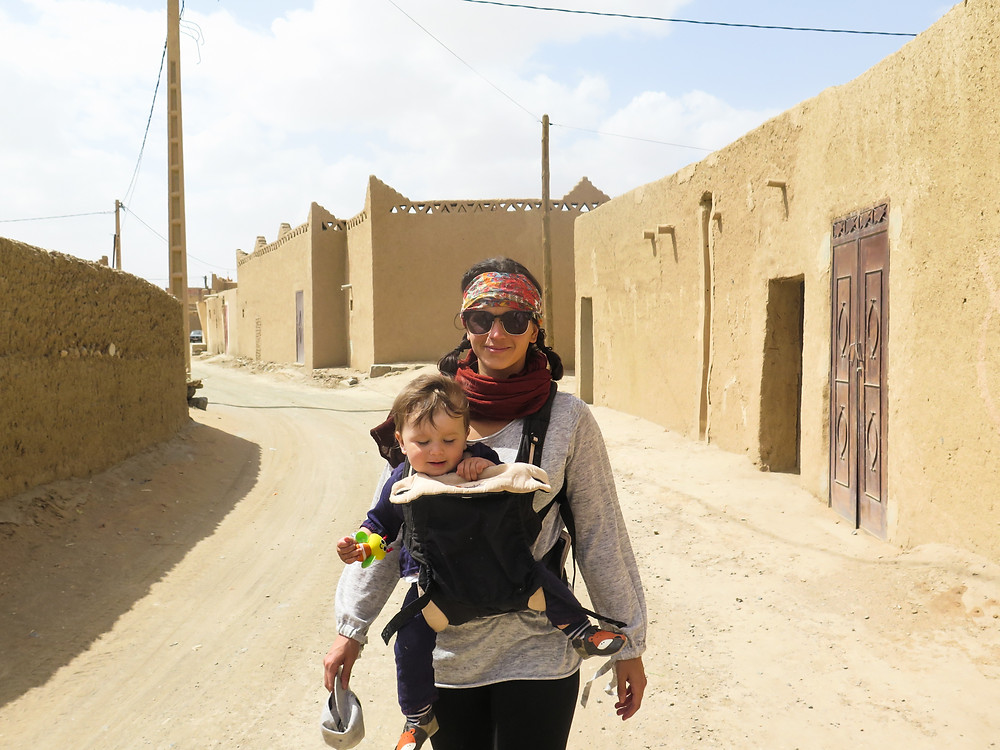 In Morocco happy while baby screams