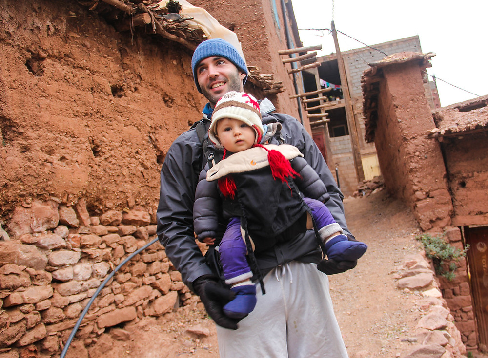 Trekking with a baby in the Low Atlas Mountains