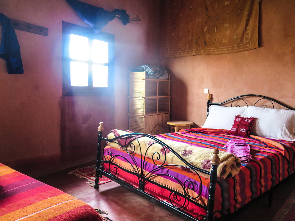 Our AirBNB room in Air Benhaddou in Morocco