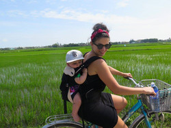 Biking w/ my son in Hoi An, Vietnam