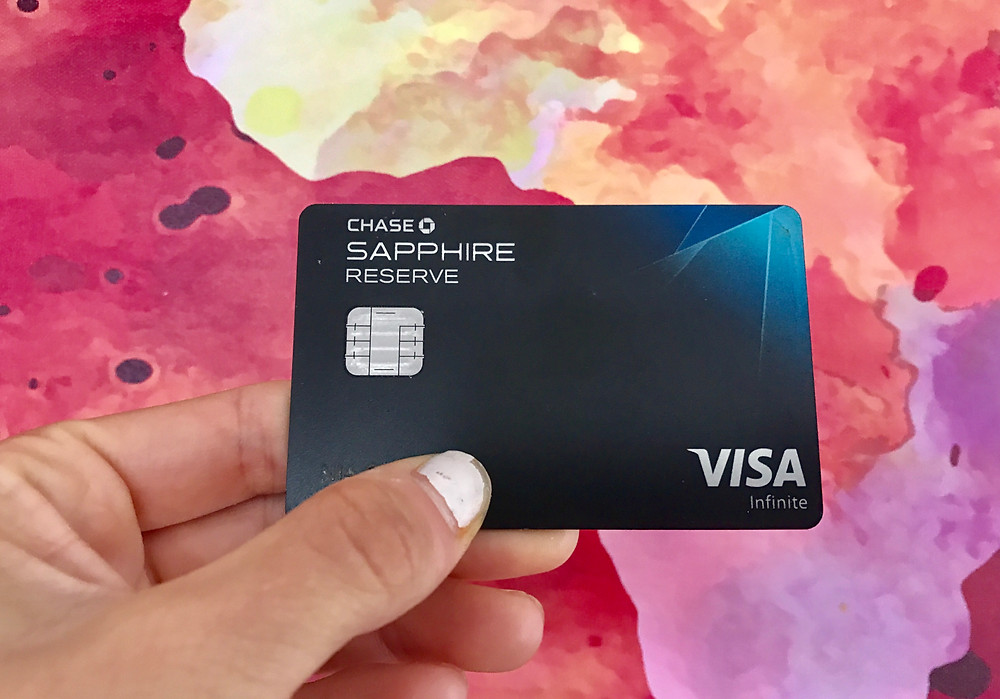Image of a Chase Sapphire Reserve credit card