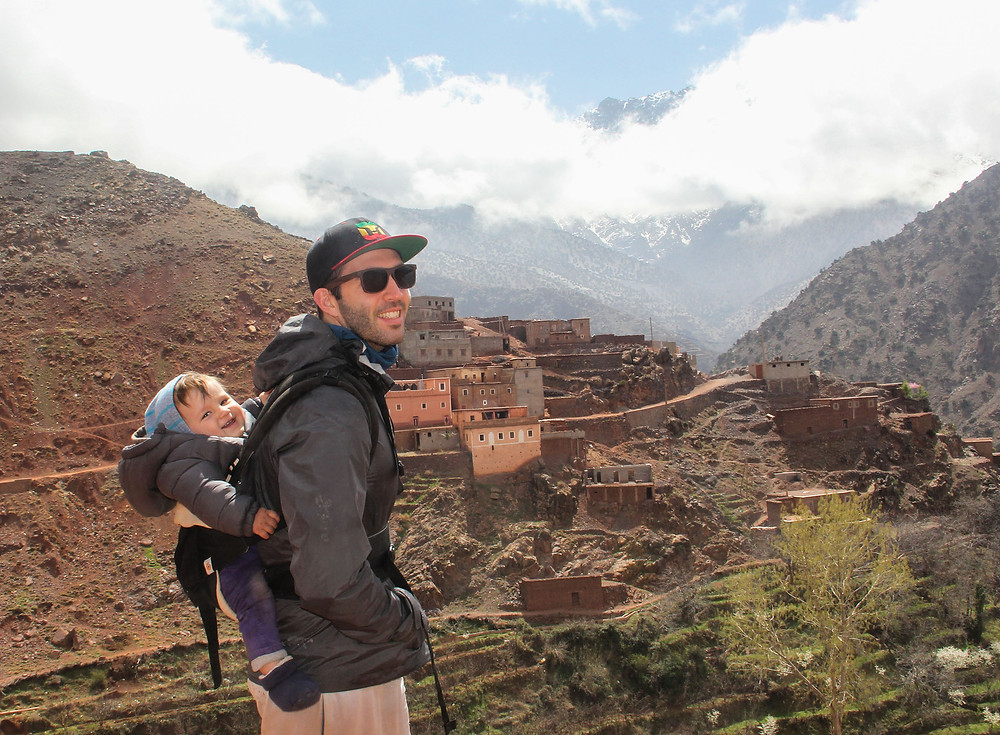 Hiking in the High Atlas Mountains with our baby