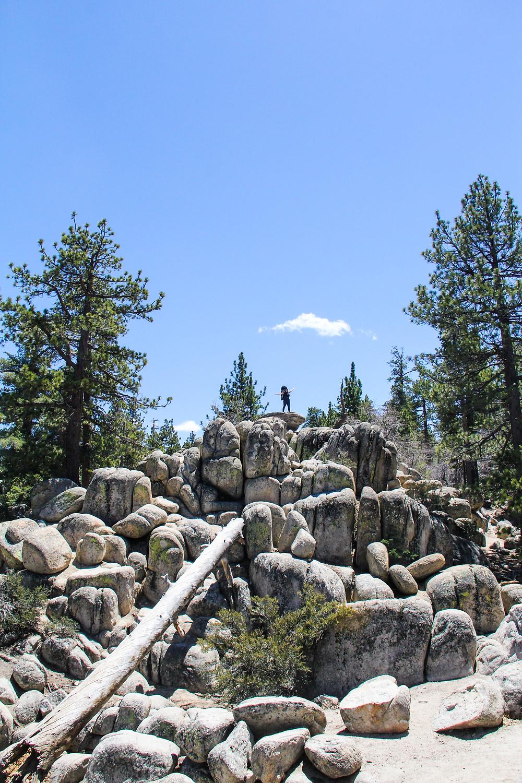 Hiking Castle Rock in Big Bear in the off-season