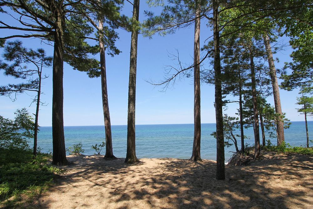 The view of Laker Superior at our campsite at Twelvemile Campground in Pictured Rock State Park