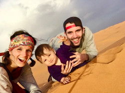 Our family traveling in the desert