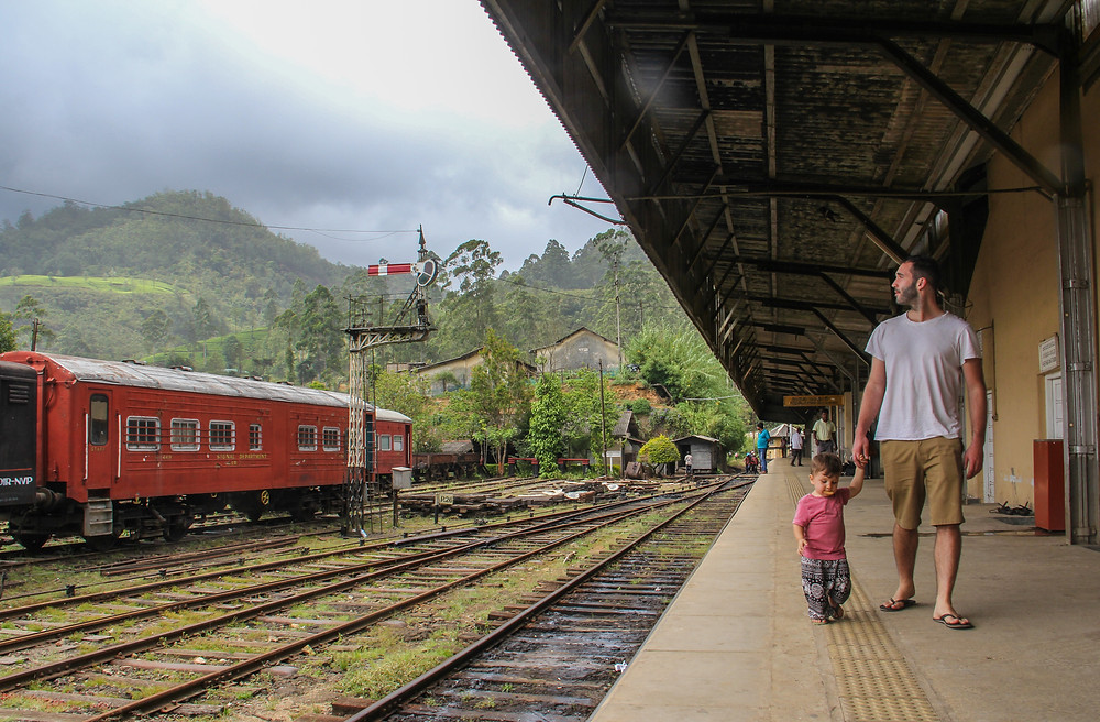 Taking the train from Kandy to Ella with a baby