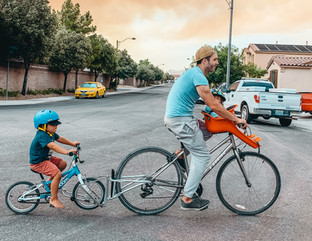 Coupling your bike with your child's bike for longer cycling adventures