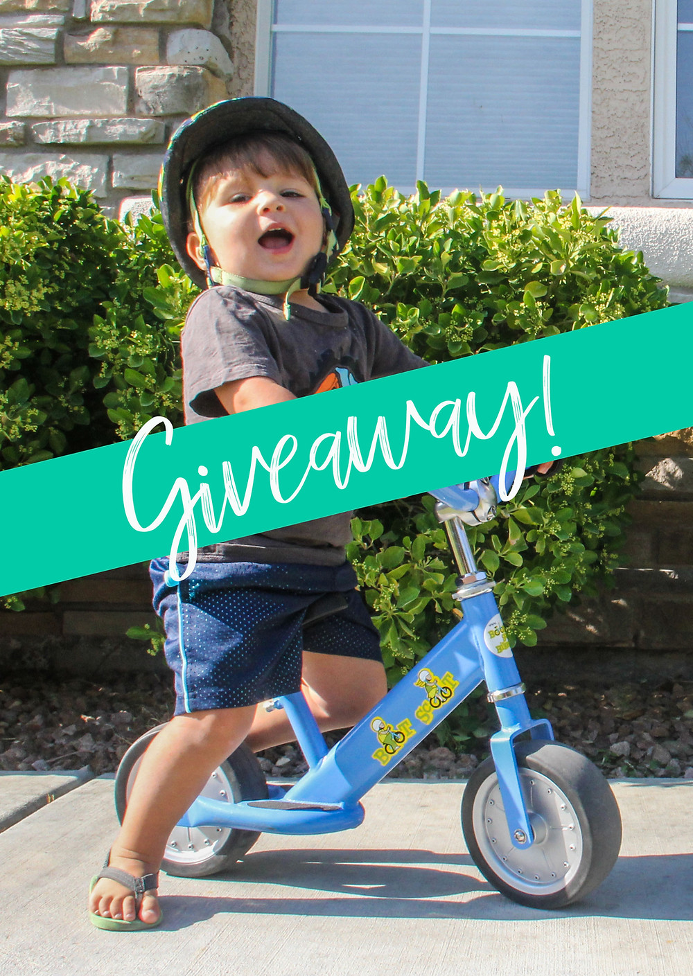 Born a Backpackers first giveaway. A new balance bike.