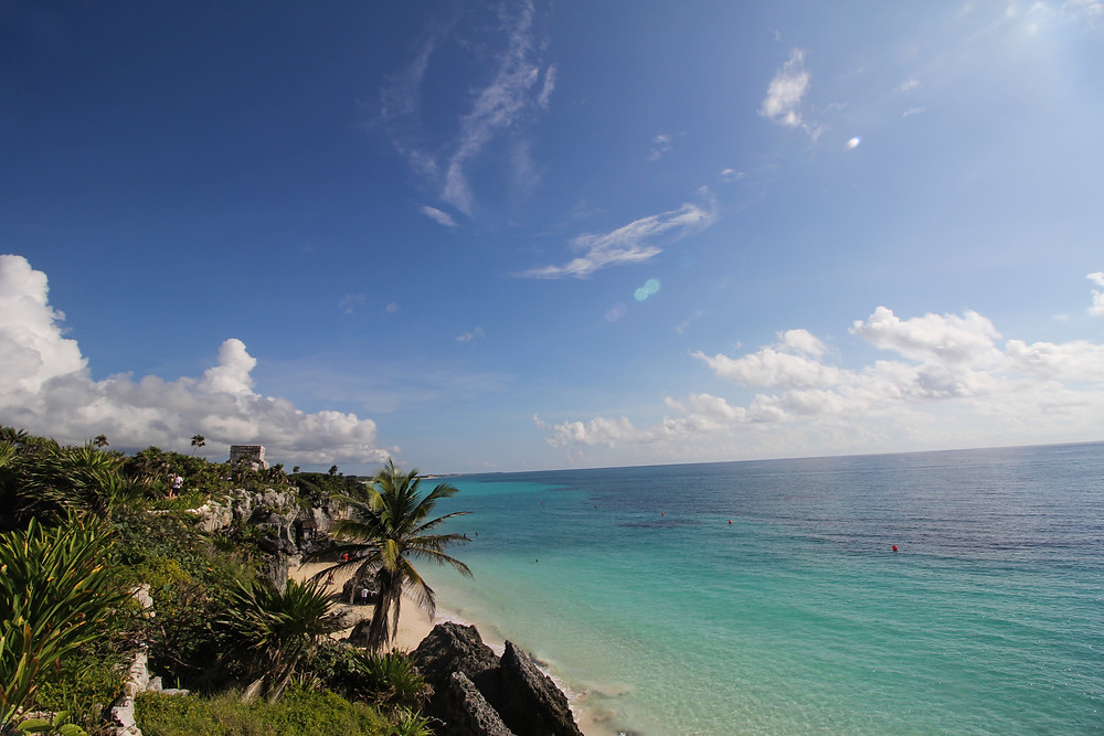 The Ruins of Tulum view