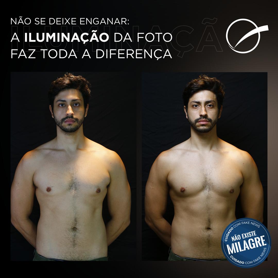 Não se deixe enganar: a iluminação da foto faz toda a diferença