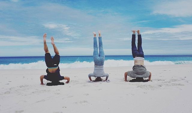 Hand stands in Cape Point