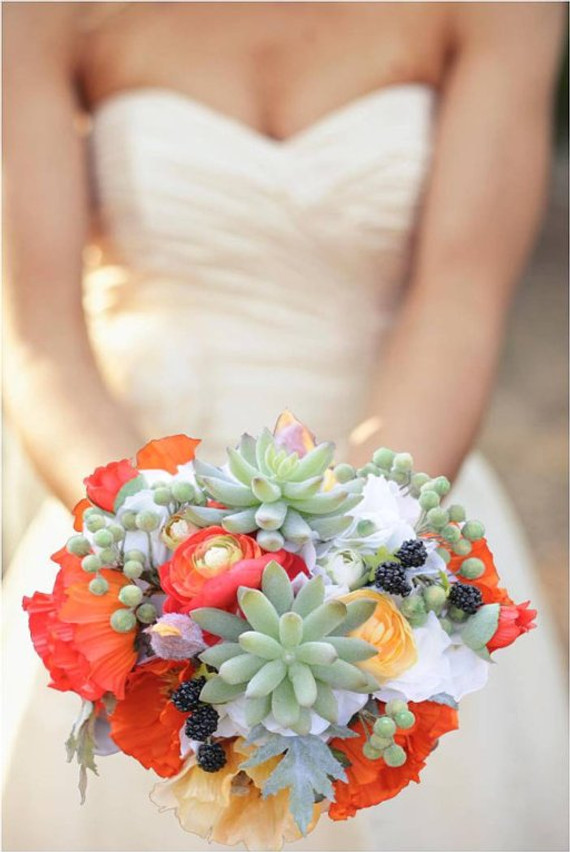 Destination Wedding Bouquet with Succulents