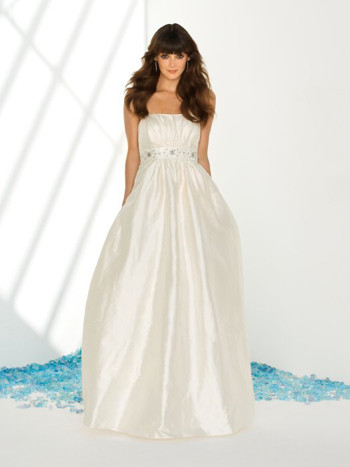 Destination Wedding Gown by Dessy with Pockets