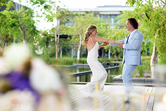 Like Dancing on Water for this Destination Wedding Couple