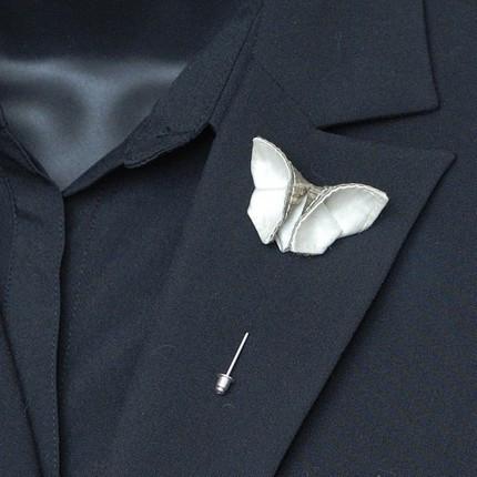 Silk Oragami Butterfly Boutonniere