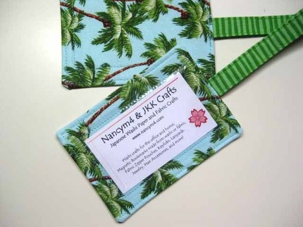 Palm Tree Fabric Luggage Tags
