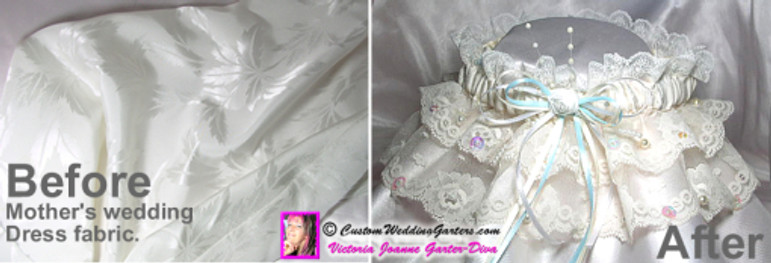 Mother's Vintage Gown Repurposed To Garter