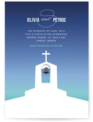 Mediterranean Stucco Wedding Invitations