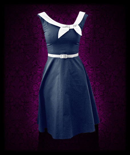Vintage Sailor Dress Perfect For Nautical Wedding
