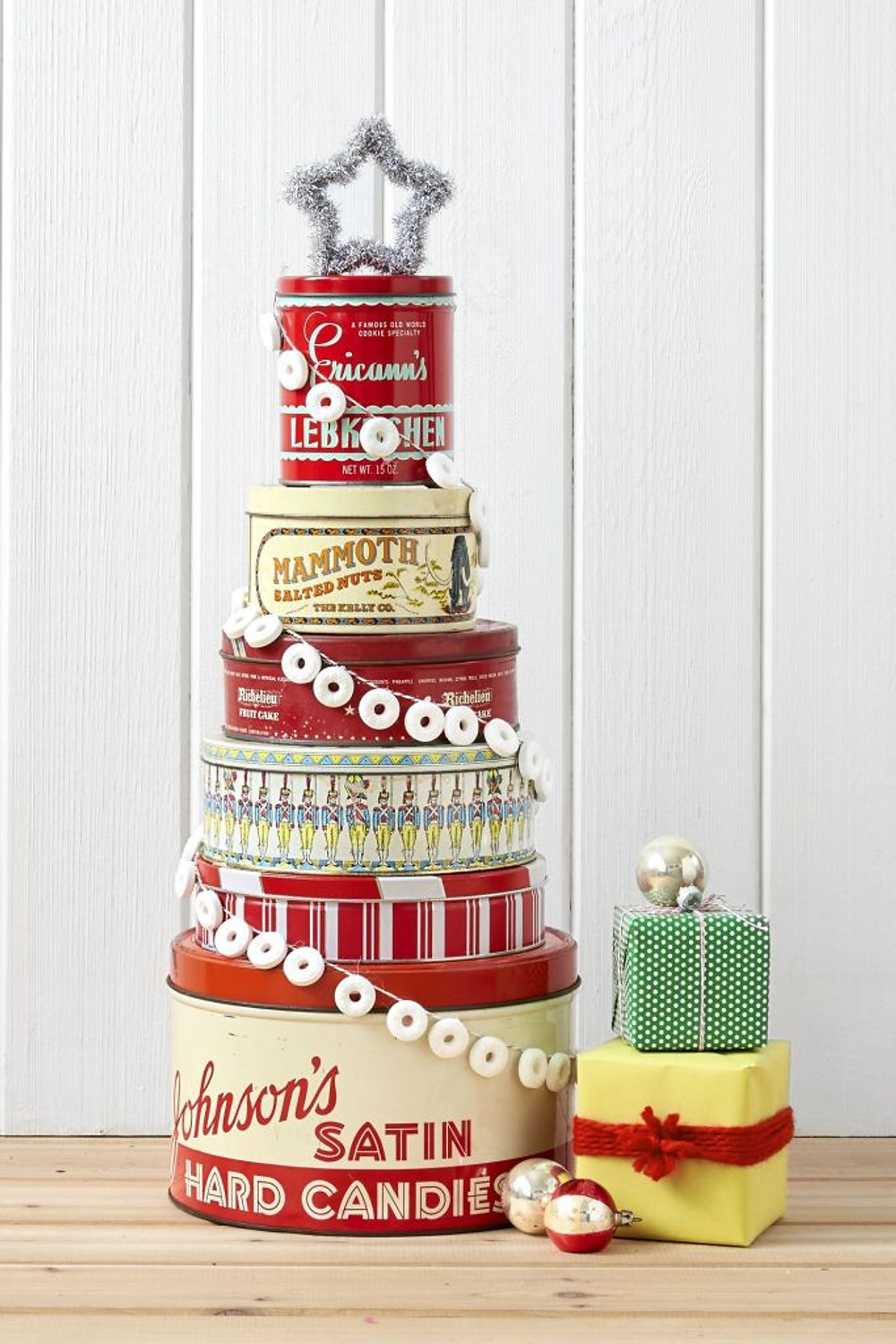 DIY Christmas Container Cake Tower Vintage.jpg