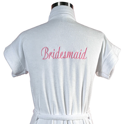 Embroidered Bridal Party Bathrobe