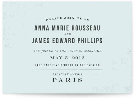 PARIS Wedding Invitations