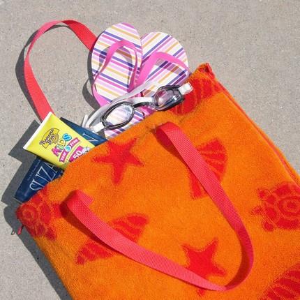 Bag That Doubles As A Beach Towel