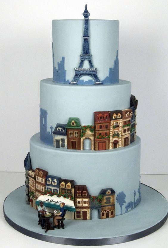 Destination Wedding Cake Parisian