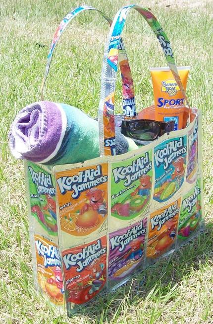Too Kool Upcycled KoolAid Box Beach Bag