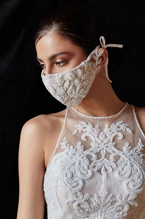 Odette Off-White/Nude Bridal Beaded Embellished