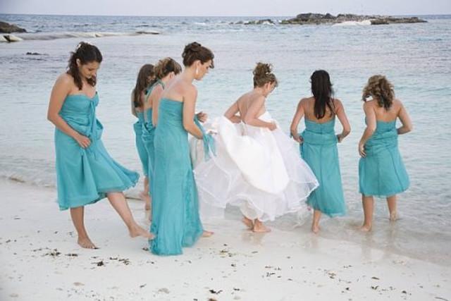 Long Train on Destination Wedding Gown No Problem