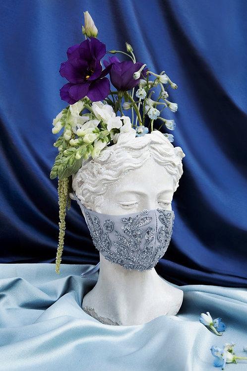 Amiee Smokey Blue Bridal Mask
