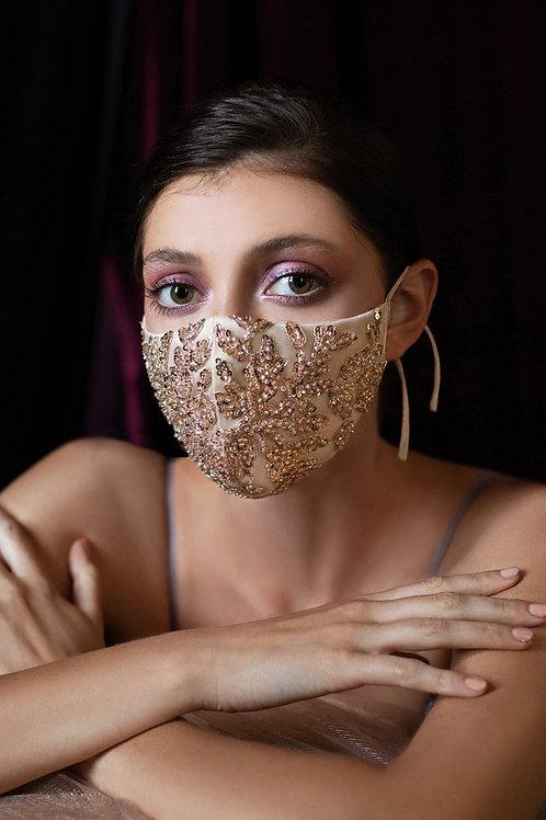 Amiee Gold Bridal Mask
