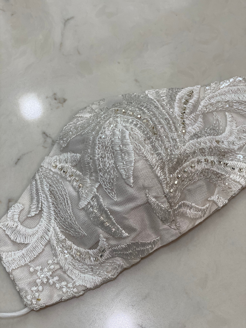 Face Mask for the Elegant Bride, lux fabrications, hand made