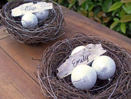 Birds Nest Place Cards
