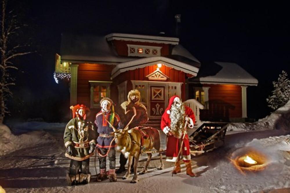 Santa and Elves Have their own Resort at Kakslauttanen