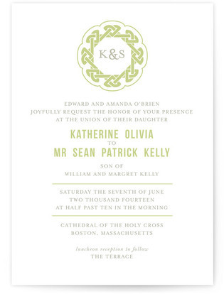 Modern Celtic Knot Wedding Invitations