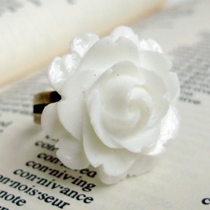 Great White Rose Ring