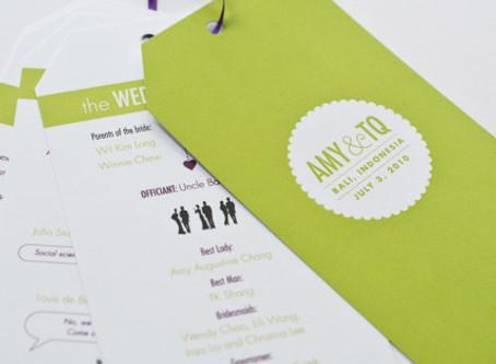 Get with the Program ~ Destination Wedding Programs