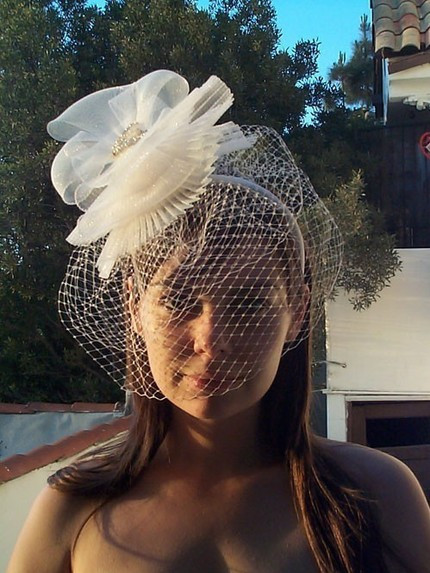 Fun Floral Fascinator For Destination Wedding