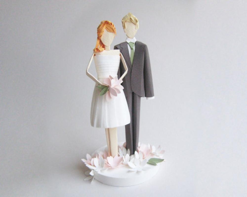 Paper Wedding Cake Topper