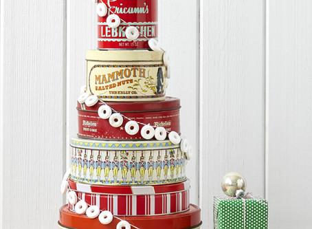 Vintage Christmas Cookie Tin Cake
