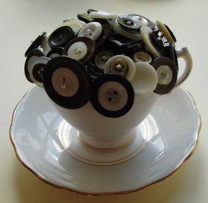 Elegant Vintage Button Centerpiece