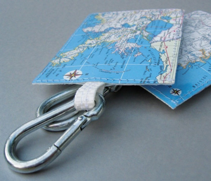 Cool UpCycled Map Luggage Tag From Marmalime