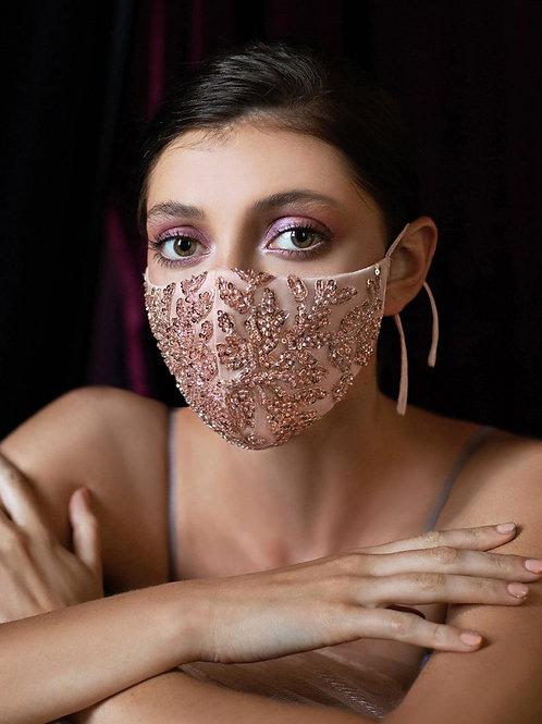 Amiee Rose Gold Bridal Mask