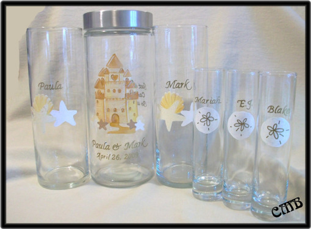 Customized Just For You HandPainted Sand Ceremony Set