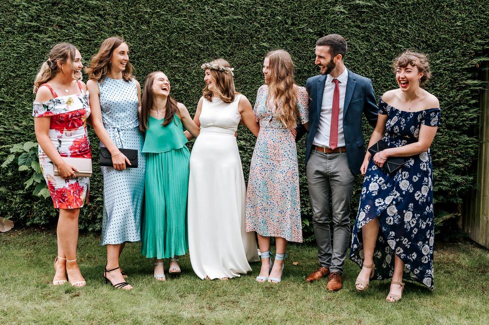 Bride & Friends share a joke