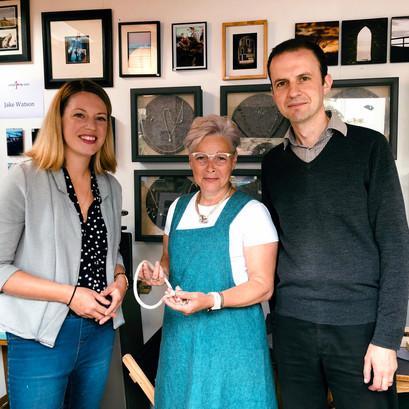 MSP Jenny Gilruth, MP Stephen Gethin, Jeweller Susan McMillan