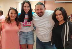 Brenda Garza, Amanda Franklin, Santiago Villalobos, and Shaira Barton
