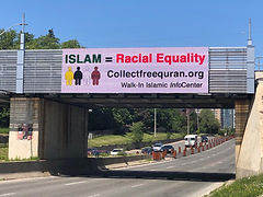 Digital Billboard-Islam=Racial Equality.